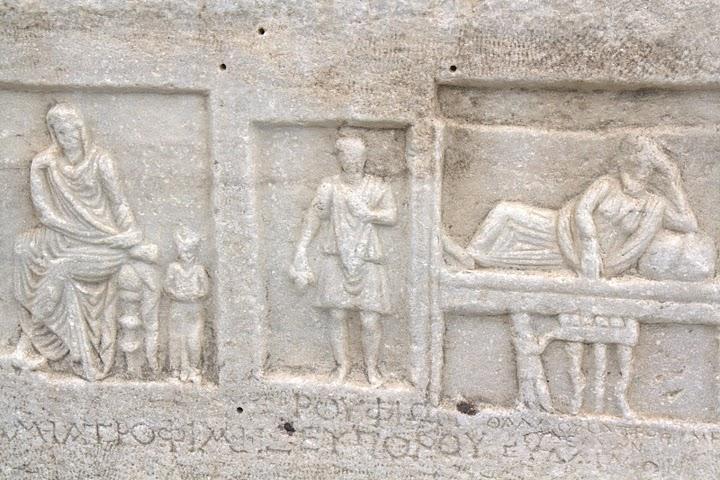 Детайл от саркофаг в Парикия, Парос
