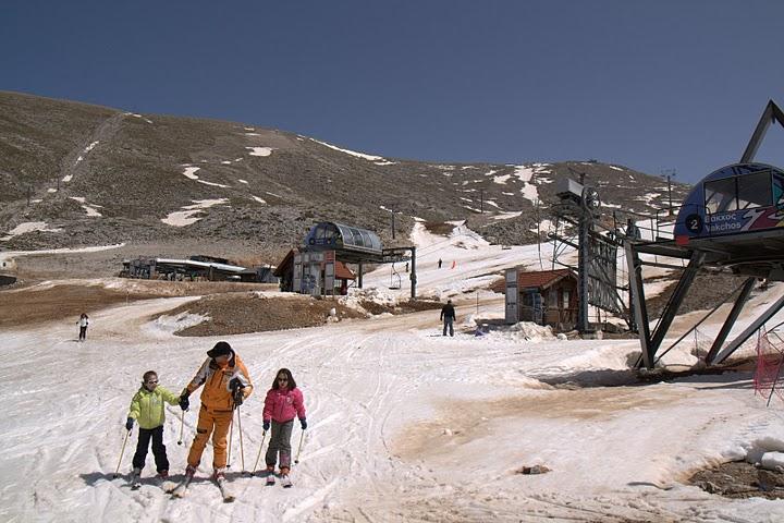 Най-големият гръцки ски курорт през април