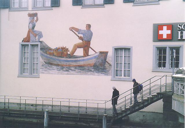 Лодка на стената