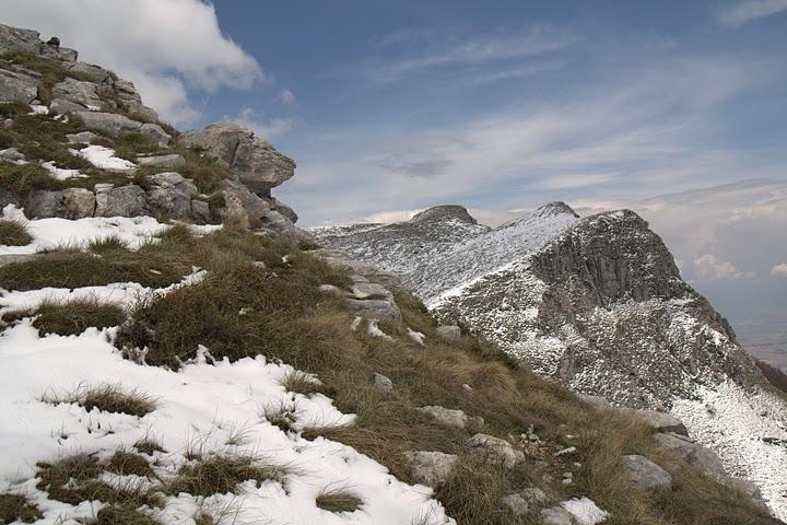 Снежец по билото на Пангео