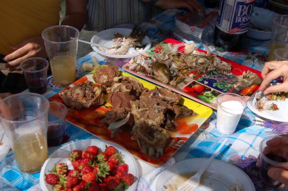 Пикник с овнешко и риба