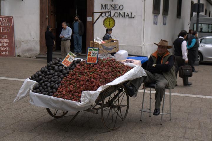 Продавачът на екзотични плодове