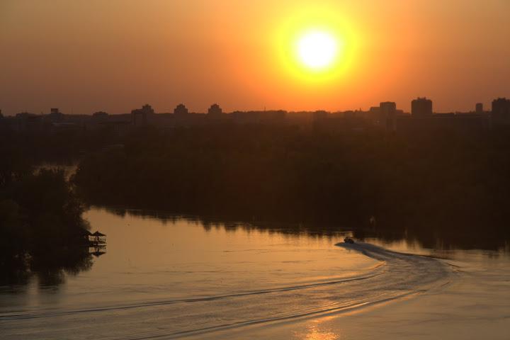 Вливането на Сава в Дунав