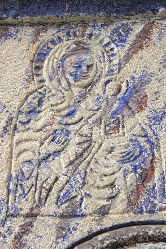 На стената на черквата