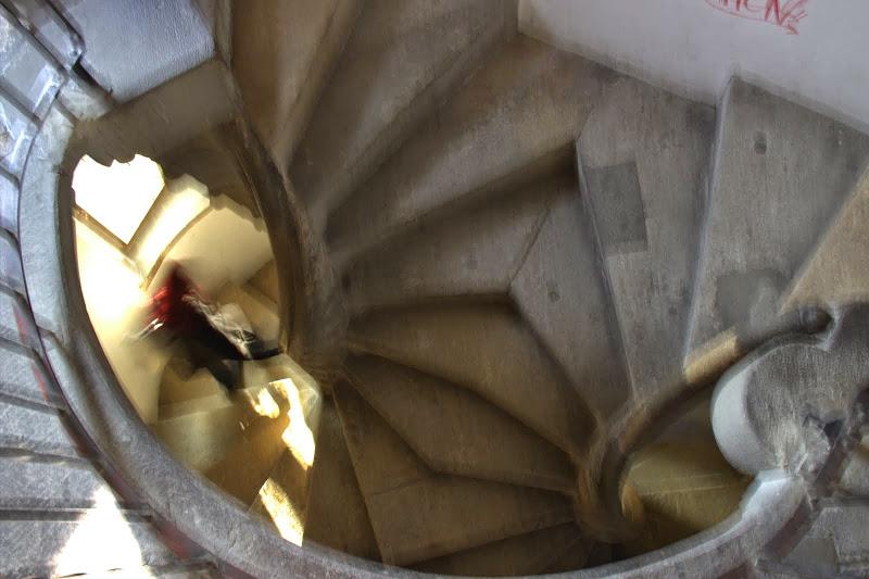 Двойното спирално стълбище в Грац
