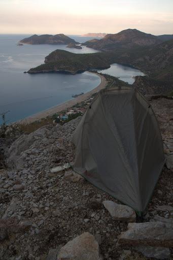Палатката над Олюдениз